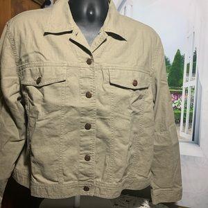Bill Blass jacket tan  xl khaki color #1286T18